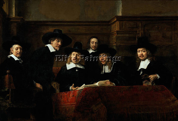 REMBRANDT THE SAMPLING OFFICIALS ARTIST PAINTING REPRODUCTION HANDMADE OIL REPRO