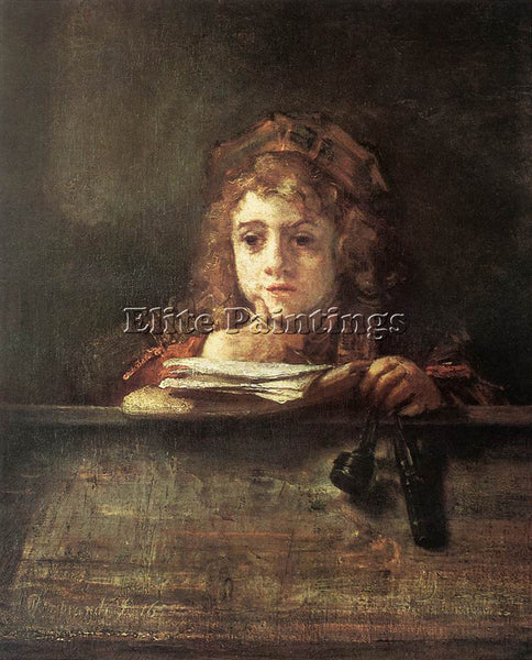 REMBRANDT TITUS ARTIST PAINTING REPRODUCTION HANDMADE CANVAS REPRO WALL  DECO