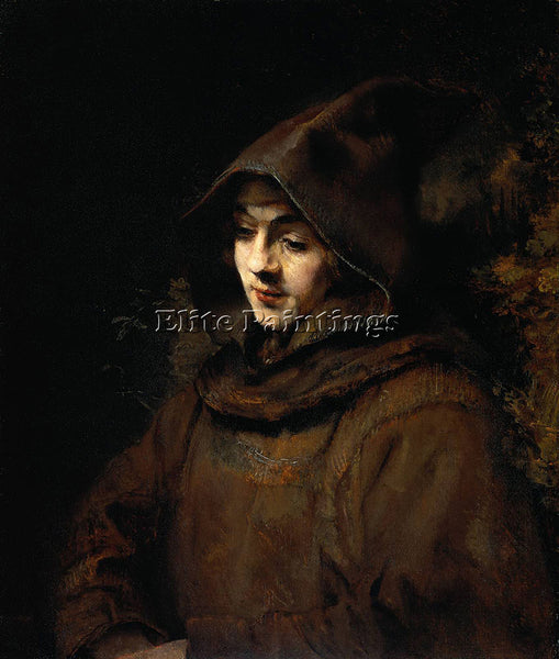 REMBRANDT TITUS VAN RIJN IN A MONK S HABIT ARTIST PAINTING REPRODUCTION HANDMADE