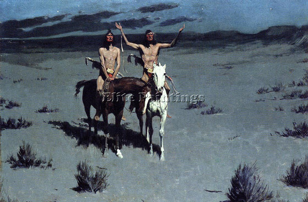 FREDERIC REMINGTON PRETTY MOTHER OF THE NIGHT ARTIST PAINTING REPRODUCTION OIL