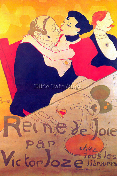 TOULOUSE-LAUTREC RENE DE JOIE ARTIST PAINTING REPRODUCTION HANDMADE CANVAS REPRO