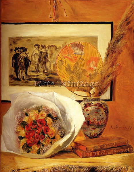 PIERRE AUGUSTE RENOIR STILL LIFE WITH BOUQUET ARTIST PAINTING REPRODUCTION OIL