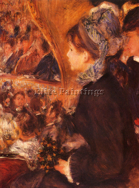 PIERRE AUGUSTE RENOIR AT THE THEATRE ARTIST PAINTING REPRODUCTION HANDMADE OIL