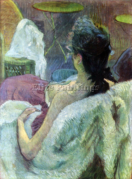 TOULOUSE-LAUTREC RESTING MODEL ARTIST PAINTING REPRODUCTION HANDMADE OIL CANVAS