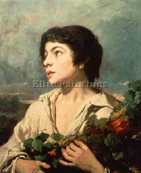 THOMAS COUTURE RETURN FROM THE FIELDS ARTIST PAINTING REPRODUCTION HANDMADE OIL