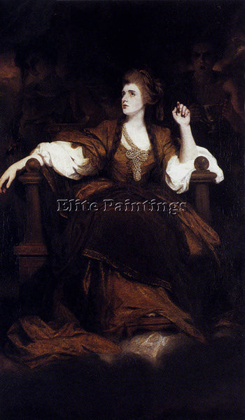 JOSHUA REYNOLDS PORTRAIT OF MRS SIDDONS AS THE TRAGIC MUSE ARTIST PAINTING REPRO