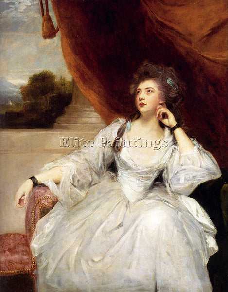 JOSHUA REYNOLDS PORTRAIT OF MRS STANHOPE ARTIST PAINTING REPRODUCTION HANDMADE