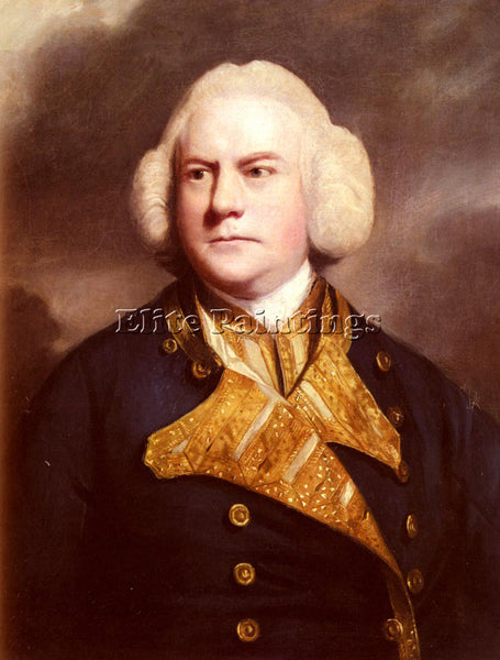 JOSHUA REYNOLDS PORTRAIT OF ADMIRAL THOMAS COTES ARTIST PAINTING HANDMADE CANVAS
