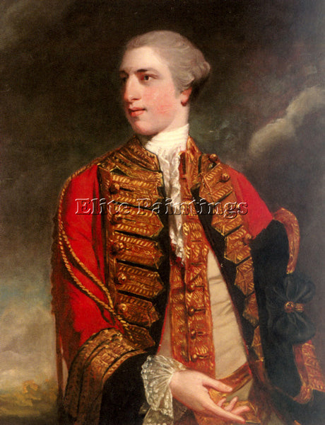 JOSHUA REYNOLDS PORTRAIT OF CHARLES FITZROY ARTIST PAINTING HANDMADE OIL CANVAS