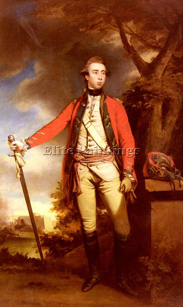 JOSHUA REYNOLDS PORTRAIT OF GEORGE TOWNSHEND LORD FERRERS ARTIST PAINTING CANVAS