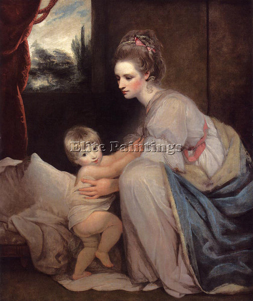 JOSHUA REYNOLDS PORTRAIT OF THE HON MRS WILLIAM BERESFORD ARTIST PAINTING CANVAS