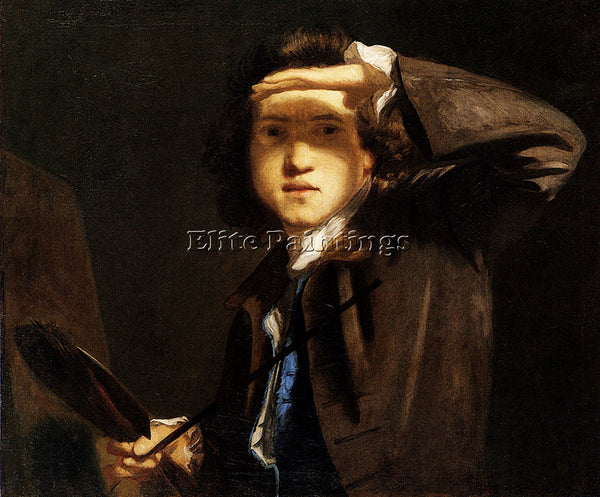JOSHUA REYNOLDS SELF PORTRAIT ARTIST PAINTING REPRODUCTION HANDMADE CANVAS REPRO