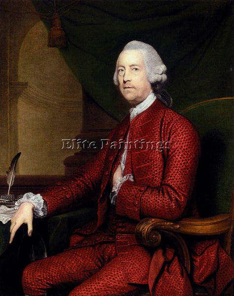 JOSHUA REYNOLDS PORTRAIT OF JOHN SIMPSON OF BRADLEY HALL ARTIST PAINTING CANVAS