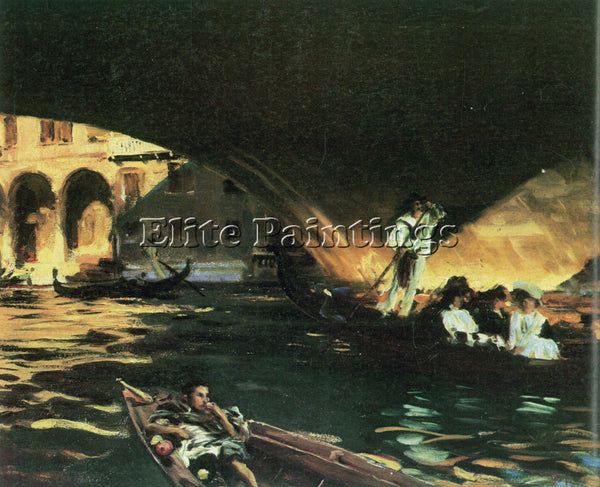 JOHN SINGER SARGENT RIALTO ARTIST PAINTING REPRODUCTION HANDMADE OIL CANVAS DECO
