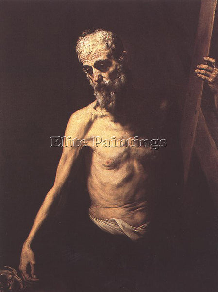 JUSEPE DE RIBERA ST ANDREW ARTIST PAINTING REPRODUCTION HANDMADE OIL CANVAS DECO