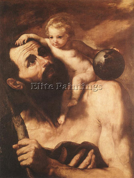 JUSEPE DE RIBERA ST CHRISTOPHER ARTIST PAINTING REPRODUCTION HANDMADE OIL CANVAS