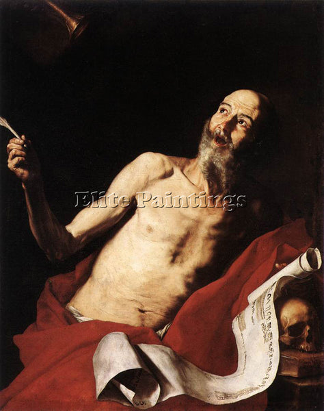 JUSEPE DE RIBERA ST JEROME ARTIST PAINTING REPRODUCTION HANDMADE OIL CANVAS DECO