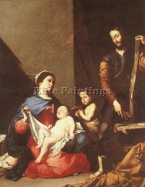 JUSEPE DE RIBERA THE HOLY FAMILY ARTIST PAINTING REPRODUCTION HANDMADE OIL REPRO