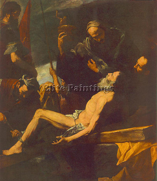JUSEPE DE RIBERA THE MARTYRDOM OF ST ANDREW ARTIST PAINTING HANDMADE OIL CANVAS