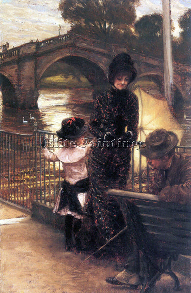 TISSOT RICHMOND ON THE THAMES ARTIST PAINTING REPRODUCTION HANDMADE CANVAS REPRO
