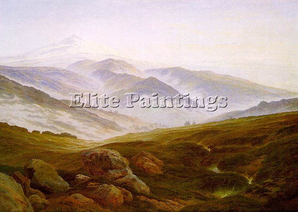 CASPAR DAVID FRIEDRICH RIESENGEBIRGE ARTIST PAINTING REPRODUCTION HANDMADE OIL