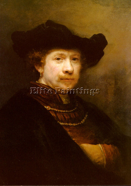 REMBRANDT RIJN VAN PORTRAIT OF THE ARTIST IN A FLAT CAP ARTIST PAINTING HANDMADE