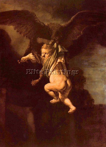 REMBRANDT ROBBERY OF GANYMEDE ARTIST PAINTING REPRODUCTION HANDMADE CANVAS REPRO