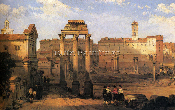 DAVID ROBERTS THE FORUM ROME ARTIST PAINTING REPRODUCTION HANDMADE CANVAS REPRO