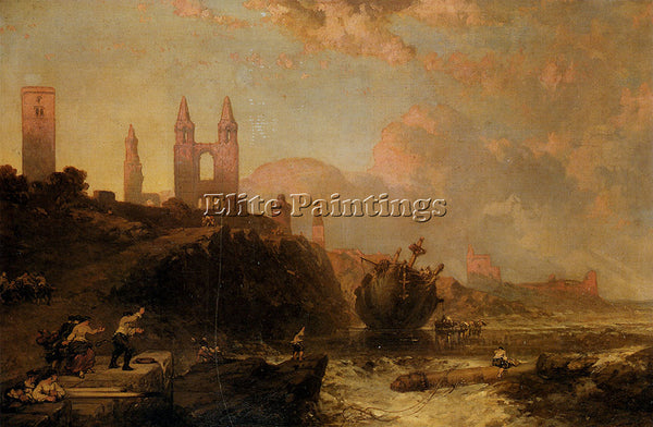ROBERTS RUINS ST ANDREWS CATHEDRAL AND CHURCH ST REGULUS FIFE SCOTLAND PAINTING