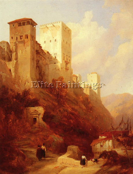 DAVID ROBERTS TOWER OF COMARES ALHAMBRA GRANADA ARTIST PAINTING REPRODUCTION OIL