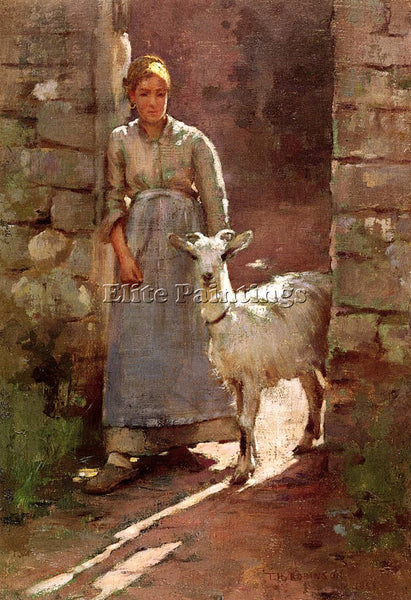 THEODORE ROBINSON GIRL WITH GOAT ARTIST PAINTING REPRODUCTION HANDMADE OIL REPRO