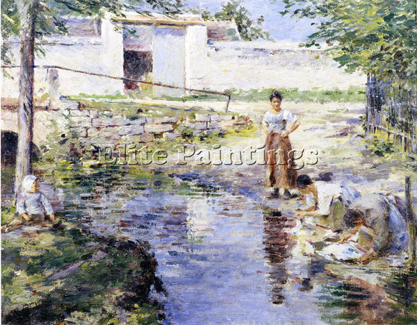 THEODORE ROBINSON GOSSIPS ARTIST PAINTING REPRODUCTION HANDMADE OIL CANVAS REPRO