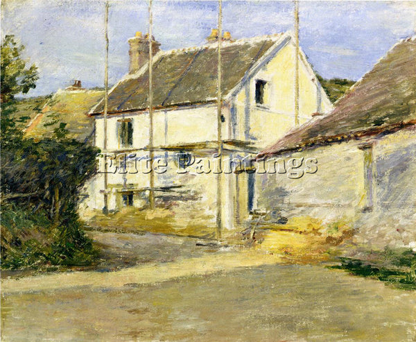 THEODORE ROBINSON HOUSE WITH SCAFFOLDING ARTIST PAINTING REPRODUCTION HANDMADE