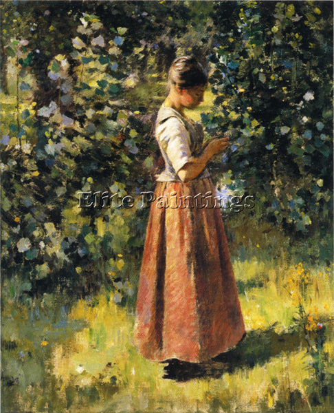 THEODORE ROBINSON IN THE GROVE ARTIST PAINTING REPRODUCTION HANDMADE OIL CANVAS