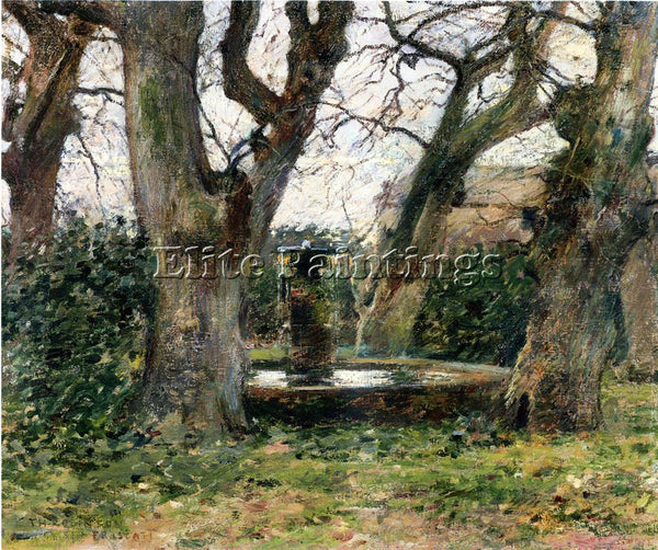 THEODORE ROBINSON ITALIAN LANDSCAPE WITH A FOUNTAIN ARTIST PAINTING REPRODUCTION