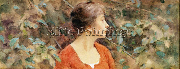 THEODORE ROBINSON LADY IN RED ARTIST PAINTING REPRODUCTION HANDMADE CANVAS REPRO