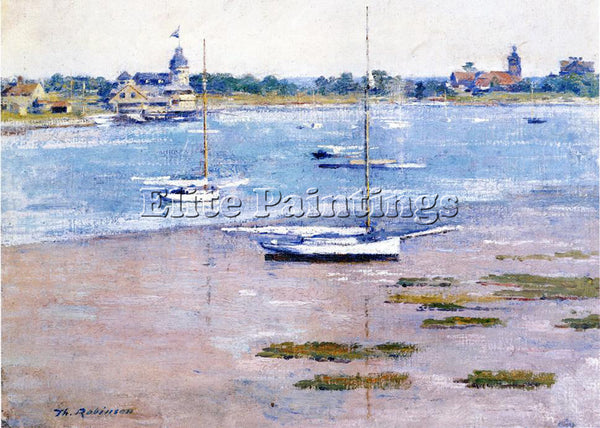 THEODORE ROBINSON LOW TIDE ARTIST PAINTING REPRODUCTION HANDMADE OIL CANVAS DECO