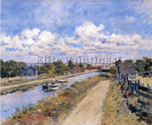 THEODORE ROBINSON ON THE CANAL OF PORT BEN SERIES ARTIST PAINTING REPRODUCTION