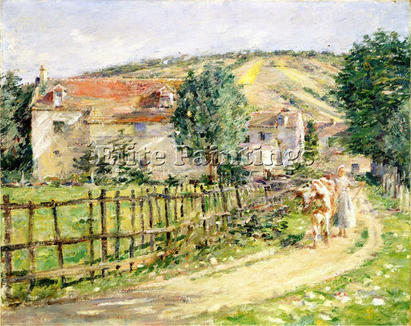 THEODORE ROBINSON ROAD BY THE MILL ARTIST PAINTING REPRODUCTION HANDMADE OIL ART