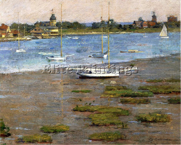 THEODORE ROBINSON THE ANCHORAGE COS COB ARTIST PAINTING REPRODUCTION HANDMADE