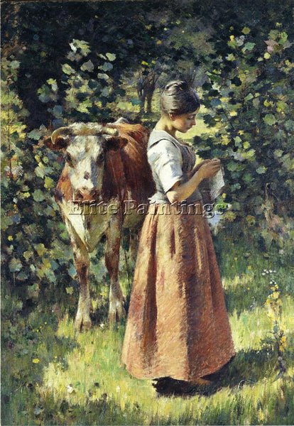 THEODORE ROBINSON THE COWHERD ARTIST PAINTING REPRODUCTION HANDMADE CANVAS REPRO