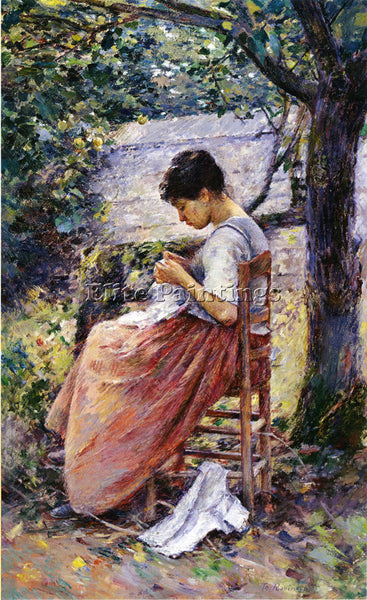 THEODORE ROBINSON THE LAYETTE ARTIST PAINTING REPRODUCTION HANDMADE CANVAS REPRO