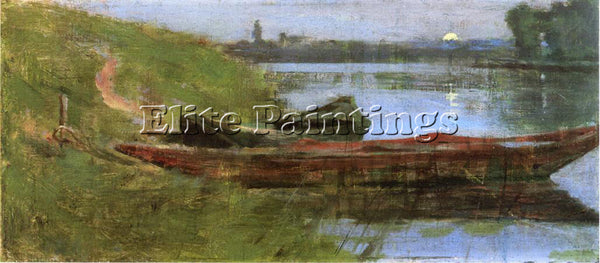 THEODORE ROBINSON TWO BOATS ARTIST PAINTING REPRODUCTION HANDMADE OIL CANVAS ART