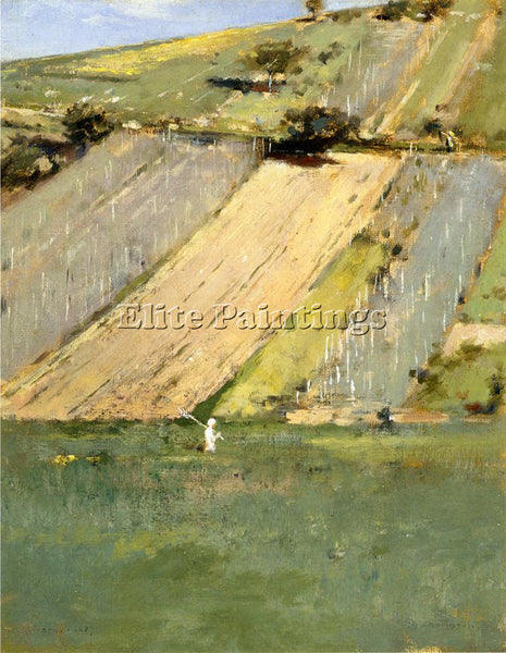 THEODORE ROBINSON VALLEY OF THE SEINE GIVERNY ARTIST PAINTING REPRODUCTION OIL