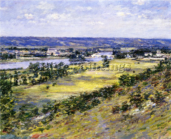 THEODORE ROBINSON VALLEY OF THE SEINE FROM GIVERNY HEIGHTS ARTIST PAINTING REPRO
