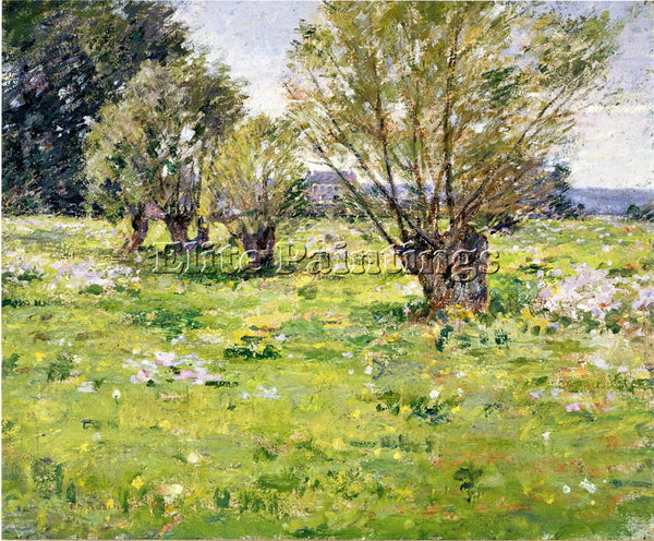 THEODORE ROBINSON WILLOWS AND WILDFLOWERS2 ARTIST PAINTING REPRODUCTION HANDMADE