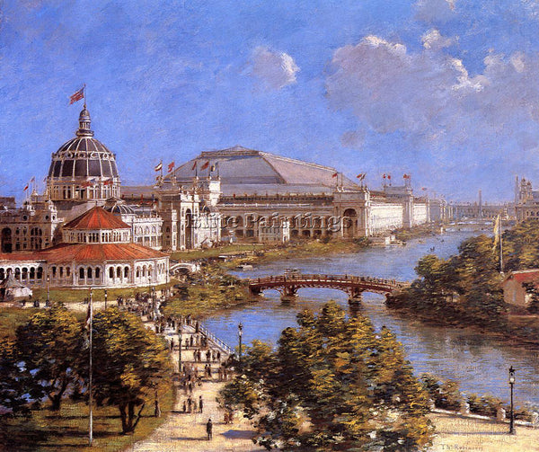 THEODORE ROBINSON WORLD S COLUMBIAN EXPOSITION ARTIST PAINTING REPRODUCTION OIL