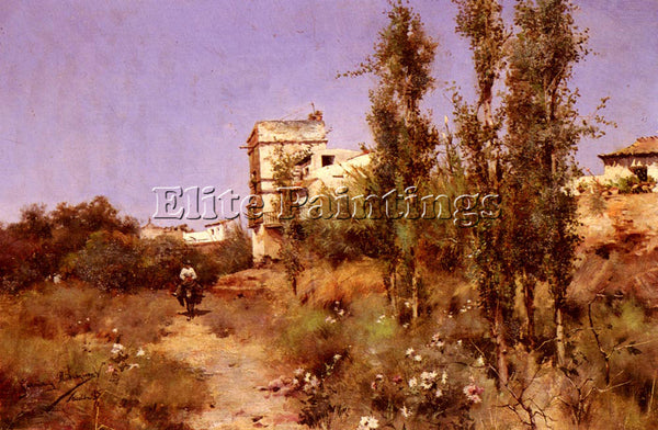 MANUEL GARCIA Y RODRIGUEZ ON THE EDGE OF THE TOWN ARTIST PAINTING REPRODUCTION