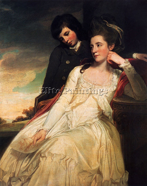 GEORGE ROMNEY JANE MAXWELL DUCHESS OF GORDON ARTIST PAINTING HANDMADE OIL CANVAS