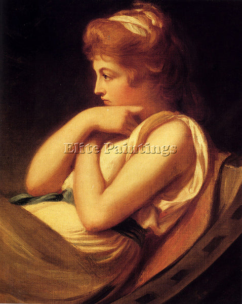 GEORGE ROMNEY SERENA IN CONTEMPLATION ARTIST PAINTING REPRODUCTION HANDMADE OIL